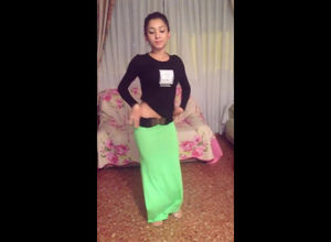 Arab damsel in lengthy sundress..