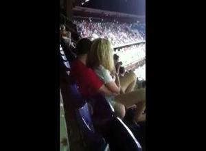 Public hookup in stadium during..