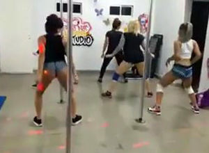 Uber-cute latina virgins twerking...