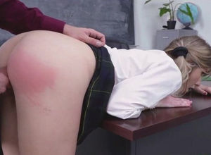 Wondrous college girl ravaged for test..