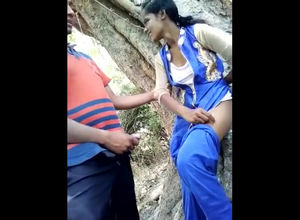 Indian teenager duo humping in jungle