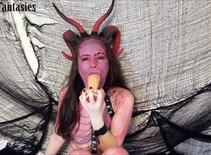Youngster succubus gets oral internal..