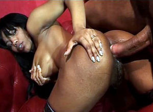 Luxurious dark-hued tramp anal..