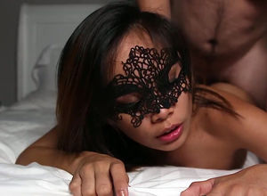 Wonderful chinese maiden gets facial..